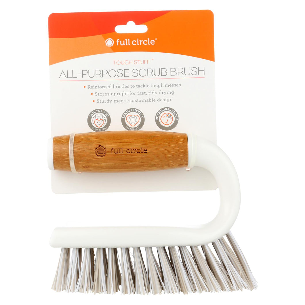 Full Circle Home - Tough Stuff All-purpose Scrub Brush - White - Case Of 6 - 1 Count