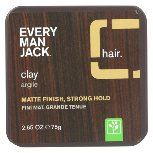 Every Man Jack Hair Clay - Sandalwood - 2.65 Oz