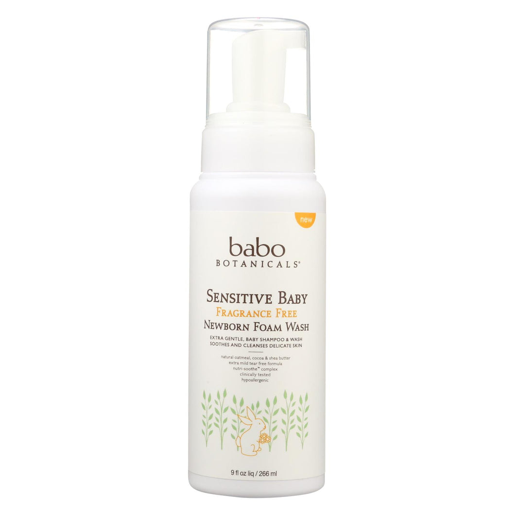 Babo Botanicals - Foaming Body Wash - Fragrance Free - 9 Fl Oz.