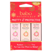 Load image into Gallery viewer, Babo Botanicals - Tinted Lip Balm - Holiday - Case Of 10 - .45 Oz.