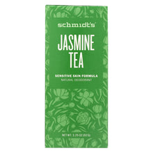 Load image into Gallery viewer, Schmidt's Natural Deodorant Stick - Jasmine Tea - 3.25 Oz