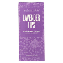 Load image into Gallery viewer, Schmidt's Natural Deodorant Stick - Lavender Tips - 3.25 Oz