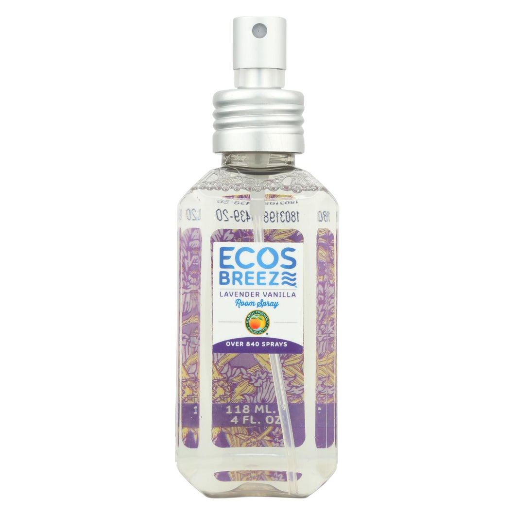 Ecos - Room Spray - Lavender Vanilla - Case Of 6 - 4 Fl Oz.
