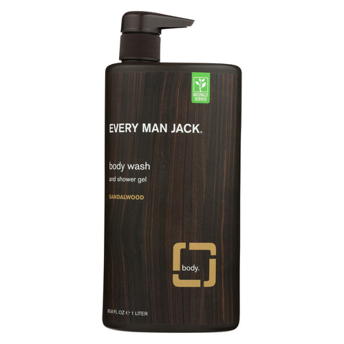 Every Man Jack Body Wash Sandalwood Body Wash - Case Of 33.8 - 33.8 Fl Oz.