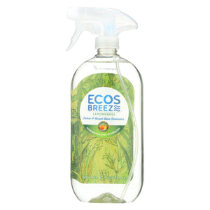 Ecos - Odor Eliminator - Lemongrass - Case Of 6 - 20 Fl Oz.