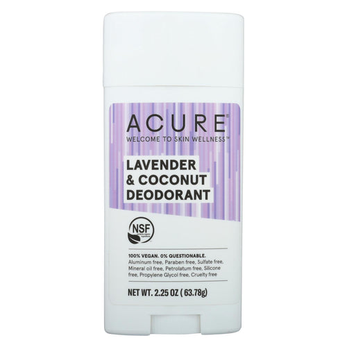 Acure - Deodorant - Lavender And Coconut - 2.25 Oz