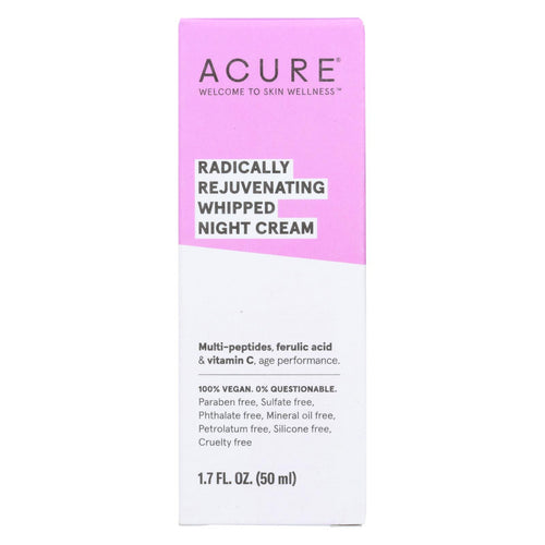 Acure - Whipped Night Cream - Radically Rejuvenating - 1.7 Fl Oz.