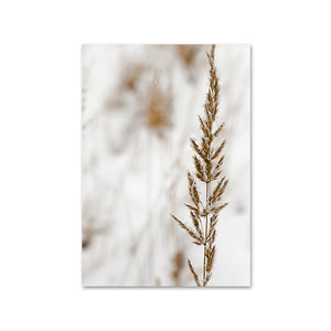Wild Boho Woman Grass Reeds Poster Nordic Canvas Wall Art Print Nature Landscape Painting Decorative Picture Scandinavian Decor