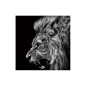 Black and White Lion Picture Home Decor Wall Art Nordic Canvas Painting Vivid Animal Modern Art Print and Poster for Living Room