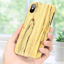 Load image into Gallery viewer, KISSCASE Wooden Case For iPhone 5 5s 6 Plus 6 S 6 Full Protection Hard Case For iPhone 8 Plus 8 7 6S XS Max XR XS Capinhas Capa