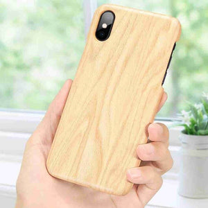 KISSCASE Wooden Case For iPhone 5 5s 6 Plus 6 S 6 Full Protection Hard Case For iPhone 8 Plus 8 7 6S XS Max XR XS Capinhas Capa