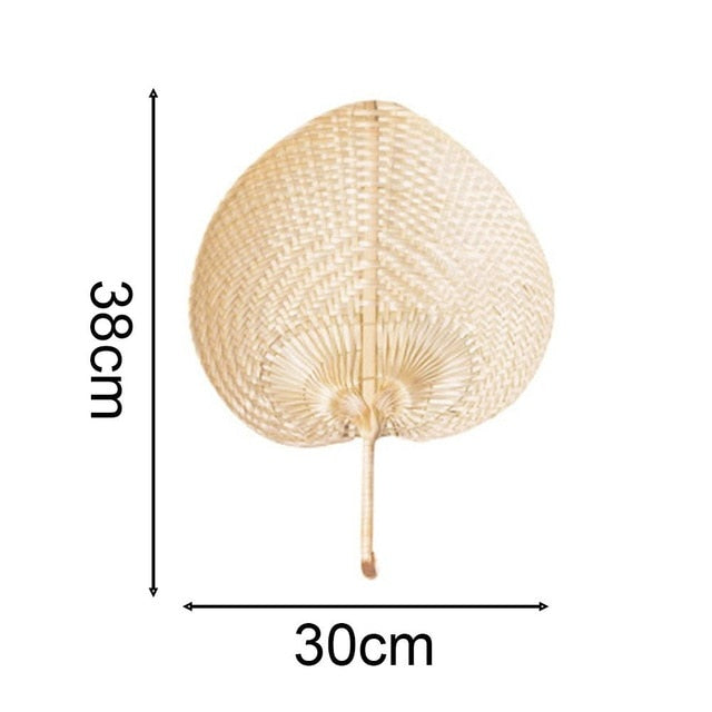 Pushan Arts Hand Made Fan Peach Shaped Bamboo Fan Summer Cool Air Fan DIY Characteristic