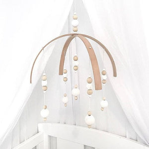 Nordic Style DIY Wooden Beads Wind Chimes Kids Room Baby Bed Hanging Wind Bell Newborn Gifts Nursery Decoration Dreamcatcher