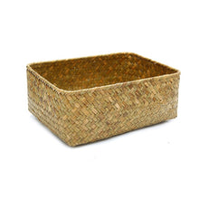 Load image into Gallery viewer, Handmade Straw Dried Flower Fruit Pot Basket Rattan Box Candy Earphone Organizer Seagrass Belly Garden Decor Pot Planter Basket
