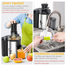 Load image into Gallery viewer, 220V Stainless Steel Juicers 2 Speed Electric Juice Extractor Fruit Drinking Machine for Home Sonifer