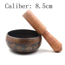 Load image into Gallery viewer, New 2019 Copper Crafted Gilt Yoga Singing Bowl Buddhism Tibetan Chakra Meditation