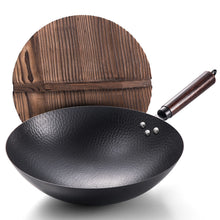 Load image into Gallery viewer, Pan Iron Pot Vintage Forged Stainless Wok Non-stick Pan Gas Stove Household 32CM Kitchen Wok Cooking Pot Wok Non Stick Pan