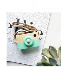 Load image into Gallery viewer, Cute Nordic Style Hanging Wooden Camera Toys Baby Kids Safe Natural Educational Toys Fashion Home Photography Prop Decor Gifts