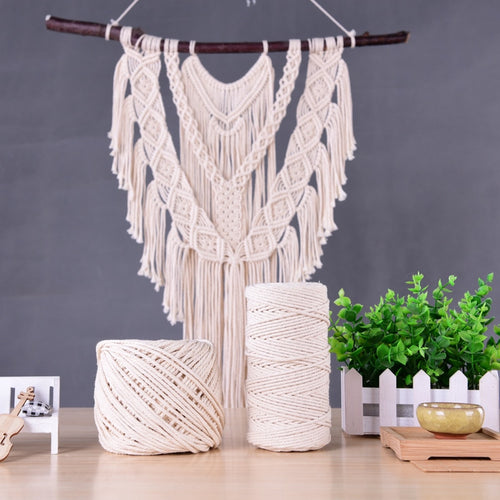 Beige White Cotton Twisted Cord Rope DIY Home Textile Craft Macrame String Handmade Decorative Accessories 1/2/3/4/5/6/8mm
