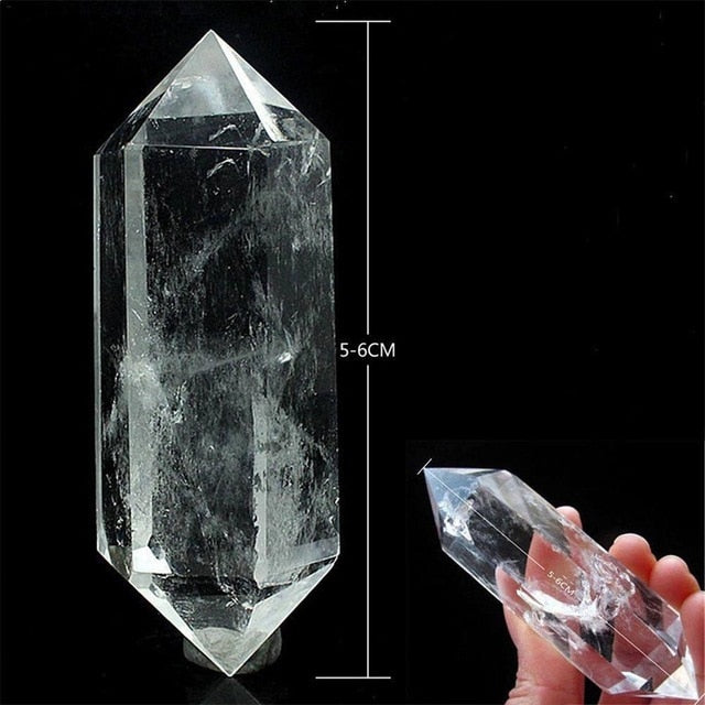 50-60MM Natural White Fluorite Clear Crystal Quartz Crystal Stone Point Healing Hexagonal Wand Treatment Stone Dropshipping