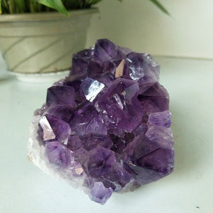 Natural stone amethyst geode quartz crystal amethyst cluster home decor display