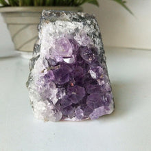 Load image into Gallery viewer, Natural stone amethyst geode quartz crystal amethyst cluster home decor display