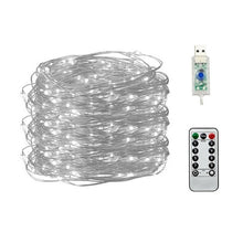 Load image into Gallery viewer, 50/100/200 LED Copper Wire String Lights USB Plug-in Fairy Lights with Remote 8 Modes Lights Waterproof Remote Control Timer