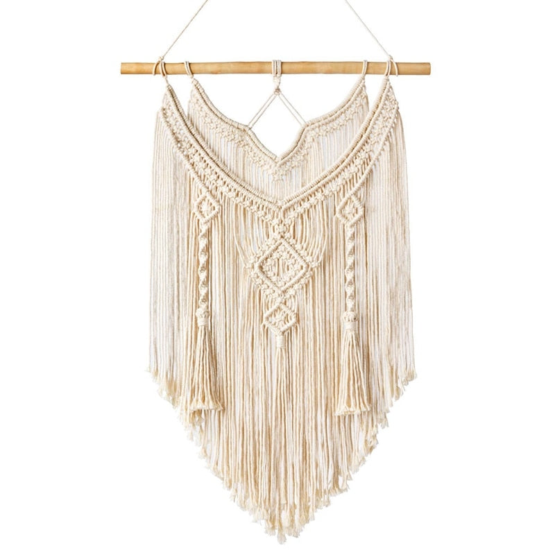 Macrame Wall Hanging Tapestry Wall Decor Boho Chic Bohemian Woven Home Decoration