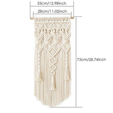 Load image into Gallery viewer, Macrame Boho Tapestry Wall Hanging Hand-woven Home Decoration Accessories Nordic Art Tassel Apartment Dorm Room Decoration