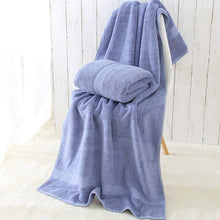 Load image into Gallery viewer, 100% Organic Cotton  bath towel  Quick-Dry  bathroom towel  Machine Washable  microfiber towel  Plain Dyed  shower towel