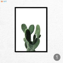Load image into Gallery viewer, Nordic Minimalist Cactus Canvas Painting Green Plant Posters and Prints Wall Art Wall Pictures Dining Room Kitchen Boho Decor