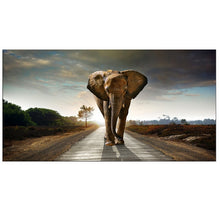Load image into Gallery viewer, OUCAG  Africa Elephants Cuadros Canvas Painting Wild Animal Scandinavia Posters and Prints Wall Art Pictures For Living Room