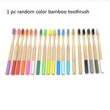 Load image into Gallery viewer, Bamboo toothbrush Zero waste Eco-Friendly Adult toothbrush Natural Biodegradable Bamboo Toothbrushes