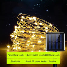 Load image into Gallery viewer, SUNYIMA Solar LED Lawn Lamp Outdoor waterproof 22m Copper Wire String Lights For Holiday Party Christmas lighting Solar Garden