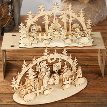 Load image into Gallery viewer, DIY Christmas Wooden Toy Xmas Funny Party Desktop Decoration Christmas Wooden Ornaments Three-dimensional Kids Toy Decoration