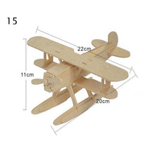 Load image into Gallery viewer, NEW 3D Natural DIY Wooden Toys Car Airplane Puzzle Game Children hobby Model Building Educational Wood Toy Gift for children