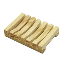 Load image into Gallery viewer, Wooden Natural Bamboo Soap Dishes Tray Holder Storage Soap Rack Plate Box Container Portable Bathroom Soap Dish Storage Box