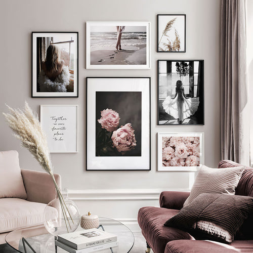Feminine Motifs Nordic Poster Flowers Canvas Painting Quote Wall Art Pictures For Living Room Modern Home Decorative Prints