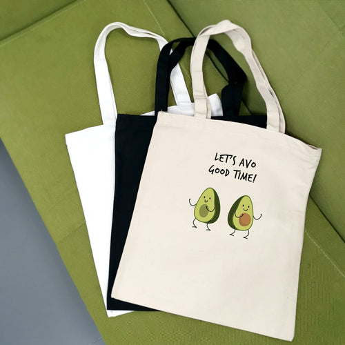 Cute Avocado Print Reusable Shopping Bag Women Canvas Tote Bags Printing Eco Bag Cartoon Bolsa De Compras Shopper Shoulder Bags