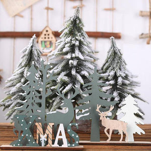 Merry Christmas Wooden Santa Claus Elk Ornament Christmas Tree Decorations For Home 2019 Noel Xmas Ornament New Year 2020