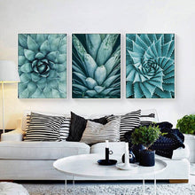 Load image into Gallery viewer, Nordic Canvas Painting living room cuadros decoracion Poster Green Aloe Succulent Plants modern minimalist Modular Pictures