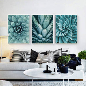 Nordic Canvas Painting living room cuadros decoracion Poster Green Aloe Succulent Plants modern minimalist Modular Pictures