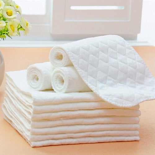 5PCS Baby Diapers Bamboo Eco Cotton Disposable Diapers Nappy Baby diaper Nappy Liner Insert Reusable Washable Diaper Paper
