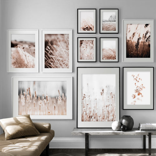Autumn Reed Grass Flower Plants Landscape Nordic Posters And Prints Wall Art Canvas Painting Wall Pictures For Living Room Decor