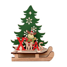 Load image into Gallery viewer, 2020 New Year Natural Xmas Elk Wood Craft Christmas Tree Ornament Christmas Decoration For Home Wooden Pendant Navidad Gifts Hot