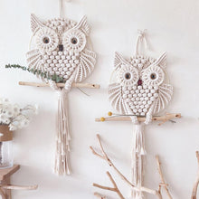 Load image into Gallery viewer, Novelty Owls Dream Catchers Cotton Macrame Wall Hanging Handmade Tassels Dreamcatcher Home Decoration 15/30cm