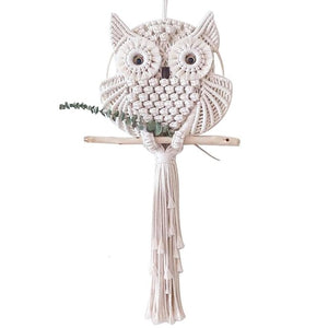 Novelty Owls Dream Catchers Cotton Macrame Wall Hanging Handmade Tassels Dreamcatcher Home Decoration 15/30cm