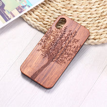 Load image into Gallery viewer, Natural Tree Plants Art Engraved Wood Phone Case Coque Funda For iPhone 6 6S 6Plus 7 7Plus 8 8Plus XR X XS Max 11 Pro Max