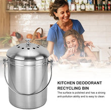 Load image into Gallery viewer, Compost Bin Recyclable Trash Can Water Barrel Stainless Steel Compost Tank Grabge Storage Box Home Kitchen Organizer