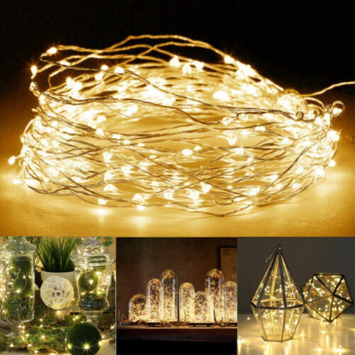 Fairy Lights AA Battery Powered Usb Silver Copper Wire Light 5m 2m White Warm White Mixed Color LED String Decoration Garland